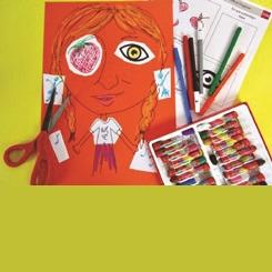 Çocuklara Çevrimiçi Modern ve Çağdaş Sanat Programı