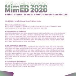 MimED2020 Ön Eleme Sonuçları Açıklandı