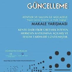 Makale Yarışması: 'Kentler ve Salgın ile Mücadele: Yapılı Çevre Tasarımı ve Halk Sağlığı'