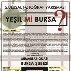 """5. Ulusal Fotoğraf Yarışması """"YEŞİL Mİ BURSA?"""""""