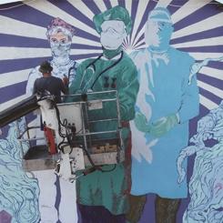 Beşiktaş Belediyesi ve DYO'dan Sağlık Emekçilerine Saygı Duvarı