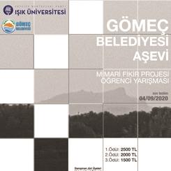 """""""Gömeç Belediyesi Aşevi"""" Mimari Fikir Projesi Öğrenci Yarışması Sonuçlandı"""