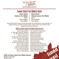 İlhan Tekeli Tez Ödülü 2020