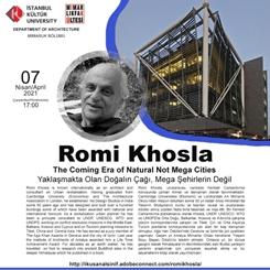 Romi Khosla: Yaklaşmakta Olan Doğalın Çağı, Mega Şehirlerin Değil
