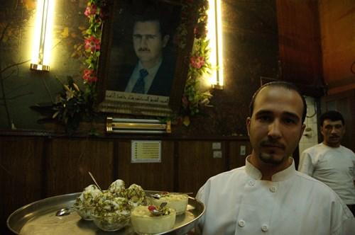 Şam'ın ünlü dondurmacısı