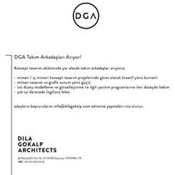 Dila Gokalp Architects - DGA, Ekip Arkadaşları Arıyor